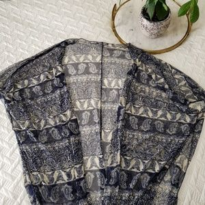 Paisley Short Kimono Cover Up